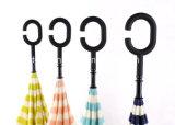 Зонтик автомобилей ручки формы c ручной обратный прямой