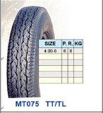 Heißer Rad-Motorrad-Reifen des Verkaufs-drei mit Qualität (4.00-8)