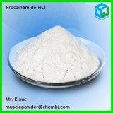 Порошок 614-39-1 хлоргидрата Procainamide Serise прокаина