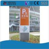 Señalización curvada aluminio del pilón que estaciona
