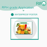 Papel sintético de Rph-120 PP para a cópia do folheto dos Tag com MSDS