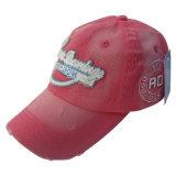 Красная помытая бейсбольная кепка с Applique Gjwd1730 2 слоев