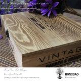 Hongdao подгоняло коробку цвета деревянную для упаковки вина с замком