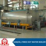Gas orizzontale industriale di Wns1.4-1.0MPa e scaldacqua a petrolio