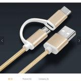 Быстрые поручая 2 в 1 USB кабеля USB микро-