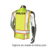 Gilet r3fléchissant de police avec le certificat ANSI07 (PL-001)