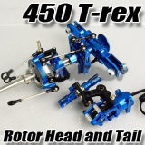CNC Rotor Head y Tail Parte para 450 RC Helicopter