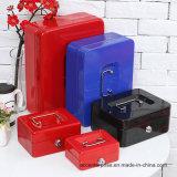 고품질 현금 상자 키 자물쇠 상자 금속 현금 상자