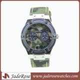 人のための本革が付いているステンレス鋼の腕時計