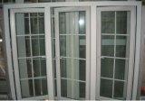 グリルデザイン(PCW-019)のヨーロッパ規格PVC開き窓のガラス窓