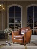 アメリカ様式の居間の革ソファー、アメリカの椅子(J07)