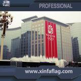 Bandeira enorme interna e ao ar livre da bandeira para as tampas do edifício