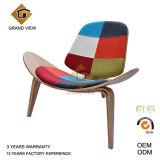 Cadeira de madeira do escudo da sala de estar do coxim da tela (GV-CH07)