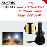 공장 공급 헤드라이트 LED 12V 24V 48W 4800lm H4 H7 H11 H13 360 LED 헤드라이트