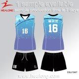Diseñar sus uniformes sublimados tinte del entrenamiento del voleibol de la marca de fábrica