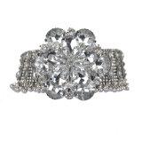 Сплава ожерелья диаманта способа ожерелье женщины цветка большого преувеличенный кристаллический