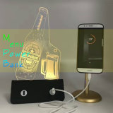 sostenedor portable del menú de la batería de la potencia 10000mAh que hace publicidad de la luz del soporte de visualización W/LED, estación de carga múltiple externa del cargador de batería del USB de 4 X para el restaurante de los cafés