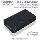 12V/15V/16V/18V/19.5V/20V 40W 45W ayunan adaptador de la potencia de la conmutación del tacto del cargador 65W con el adaptador de la mesa del cable de la visualización de voltaje de Digitaces 5A