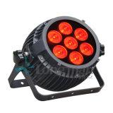 Mini citrouille 7 * 15W RGBW LED PAR Stage de lumière pour l'extérieur