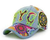 Kundenspezifische Firmenzeichen Nyc 3D Embroideried Denim-Baseballmütze, Sport-Schutzkappe, Freizeit-Schutzkappe, in der verschiedenen Größe, im Material und im Entwurf