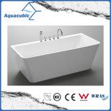Tina de baño derecha libre inconsútil de acrílico pura del cuarto de baño (AB6504)
