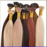 Les cheveux Pré-Collés de kératine, U-Inclinent, Je-Inclinent des cheveux, prolongements plats de cheveux de bout