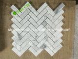 Плитка шестиугольника Calacatta плитки мозаики природы каменная импортированная итальянская мраморный белая