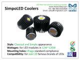 120W LED usar el disipador de calor de aluminio del refrigerador de la disipación excelente para el diámetro de las mazorcas del CREE: 160m m