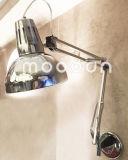 Lámpara de pared moderna plegable y ajustable del doble de los brazos del metal del cromo