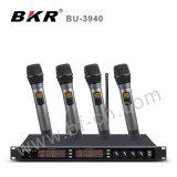 Sistema sin hilos negro del micrófono Bu-3940