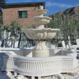 Fonte de água de pedra bege da escultura (SY- F002)