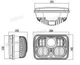 5X7 Rectangle 12V 85watt CREE LED Truck Headlight