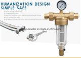 Da água filtro pre para a água Purfier do agregado familiar (Brass/SS)