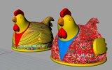 2017 عمليّة بيع حارّة جديدة شعبيّة يعلن قابل للنفخ البوق دجاجة نسخة