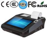 Registo de dinheiro do cartão de crédito de WiFi Bluetooth do leitor de NFC com impressão digital e impressora