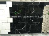 Mosaico de tira de mármol negro