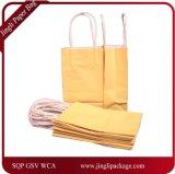 Sacos de papel pequenos do punho do presente, saco de compra personalizado dobradura de Papar da cor,