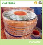 Tuyau à haute pression de jet de tissu-renforcé flexible en plastique d'air de PVC