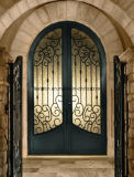 別荘によって使用される機密保護の装飾的で贅沢な青銅色の前ドア