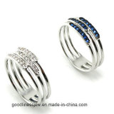 SterlingSilver Jewelry Ring mit CZ Wholesale Ring für Lady R9986-3