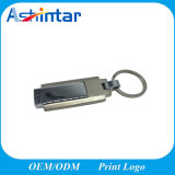 USB Pendrive del eslabón giratorio del palillo de la memoria del USB del Keyring del metal