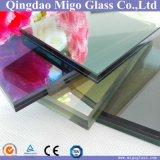 vidrio laminado reflexivo teñido F-Verde de 8.38m m para el edificio
