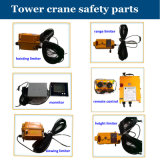 Capacidades de carga máximas hidráulica do guindaste de torre Qtz63 (5013): 6 toneladas