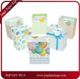 Bolsos promocionales del regalo del feliz cumpleaños con el bolso de papel de sellado caliente del regalo para la bolsa de papel modificada para requisitos particulares partido del regalo