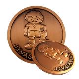 Подгонянная промотированием восхитительная золотая монетка с эмалью