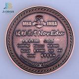 Изготовленный на заказ монетка сувенира бронзы Antique логоса 3D почетности в металле