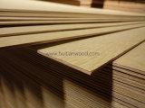 Madera contrachapada blanca del álamo de la suposición de la chapa de la madera dura para los muebles