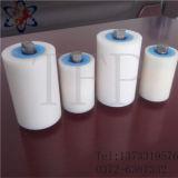 Rouleau UHMWPE en plastique résistant à l'usure de couleur courte pour convoyeur