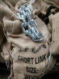 L'acciaio ha saldato la breve catena a maglia galvanizzata