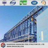 Estructura metálica de alta elevación para el taller